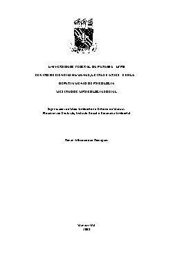 Significados do meio ambiente no entorno de Manaus: proces ...