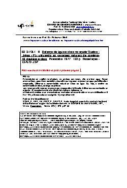 Balanço de água e cloro no açude Quebra-Unhas (PE) utiliza ...