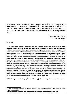 Sistemas de lagoas de estabilização alternativas sustentáv ...