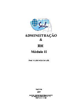 Administração e RH - Módulo II