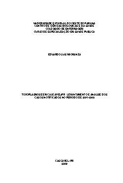 Toxoplasmose em cascavel/PR: levantamento e análise dos ca ...
