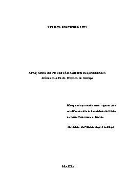 APAs (Área de Proteção Ambiental) Federais: Análise da APA d[..]