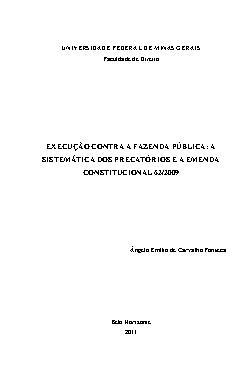 Execução contra a Fazenda Pública: A sistemática dos precató[..]