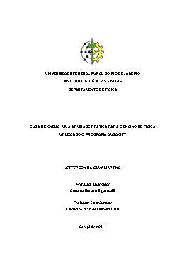 Cuba de ondas: uma atividade prática para o ensino de físi ...