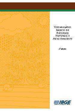 Vocabulário Básico de Recursos Naturais e Meio Ambiente -  ...