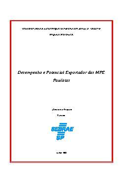 Sebrae - Desempenho Exportador das Micros e Pequenas Empre ...