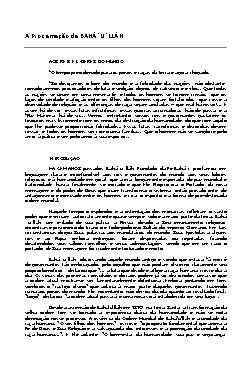 A Proclamação de BAHÁ´U´LLÁH - Bahá-u-lláh