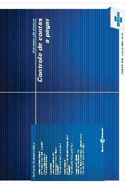 Sebrae - Controle contas a pagar 2011