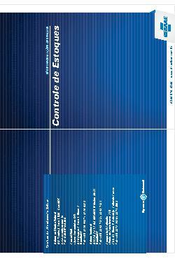 Sebrae - Controle de estoques 2011