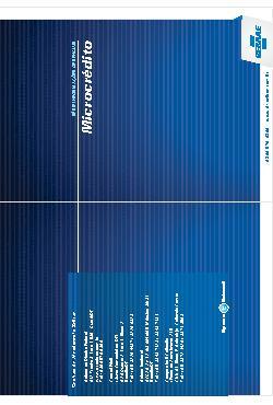 Sebrae - Microcrédito 2011