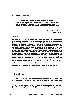 Reestruturação organizacional e reconstrução da identidade ...