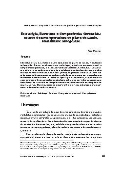 Estratégia, estrutura e competências Gerenciais: estudo de ...