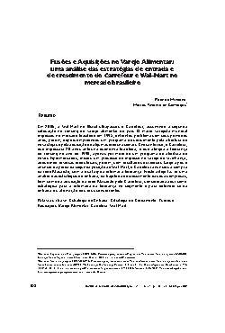 Fusões e aquisições no varejo alimentar: uma análise das e ...