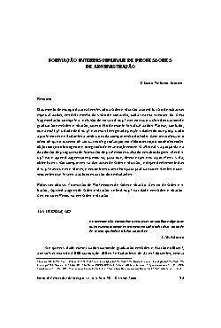 Formação interdisciplinar de professores de administração  ...