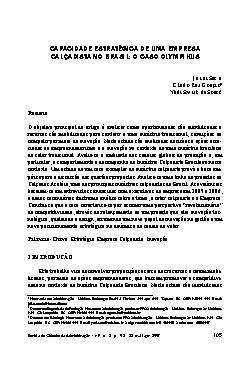 Capacidade estratégica de uma empresa calçadista no brasil ...