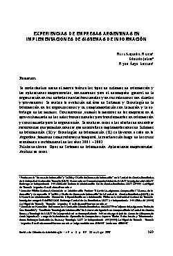 Experiencias de empresas argentinas en implementaciones de ...