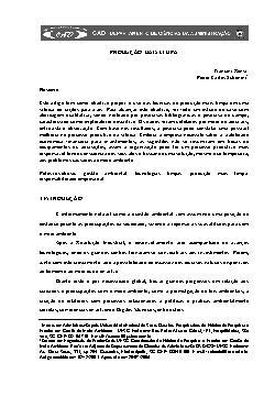 Produção mais limpa (V. 8, n. 16, jul./dez. de 2006)