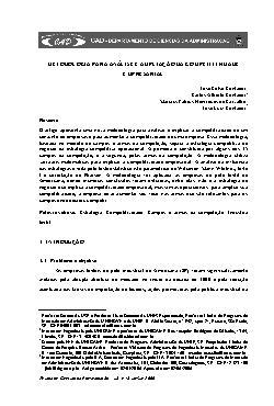 Metodologia para análise e ampliação da competitividade em ...