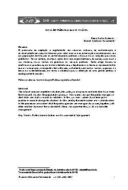 Gestão pública sustentável (V. 4, n. 8, jul./dez. de 2002)