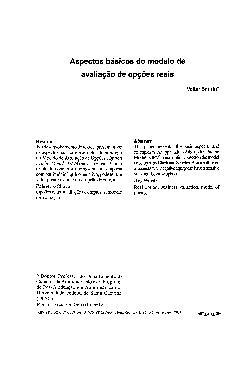 Aspectos básicos do modelo de avaliação de opções reais (R ...