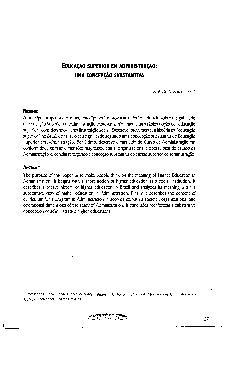 Educação superior em administração: uma concepção substant ...