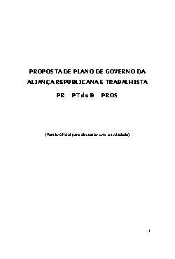 Plano de Governo Rio de Janeiro 2014 - Garotinho