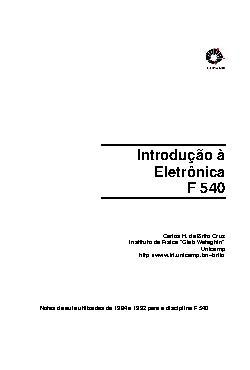 <font size=+0.1 >Introdução à Eletrônica</font>