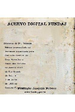 Discurso do Dr. Joaquim Nabuco pronunciado na kermesse organ[..]