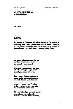 <font size=+0.1 >La Divina Commedia</font>
