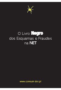 O Livro Negro dos Esquemas e Fraudes na NET