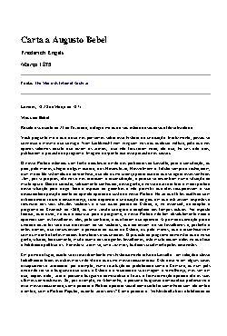 <font size=+0.1 >Carta a Augusto Bebel</font>