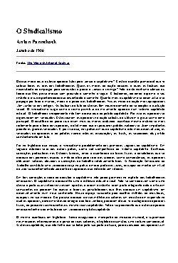 <font size=+0.1 >O Sindicalismo</font>