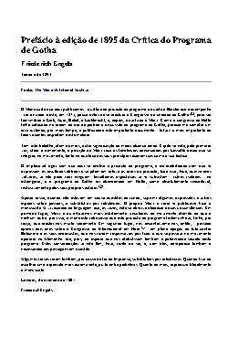 Prefácio à Edição de 1895 da Crítica do Programa de Gotha