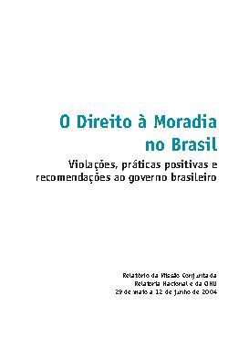 O direito à moradia no Brasil