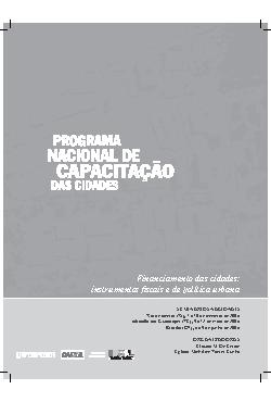Financiamento das cidades: instrumentos fiscais e de polít ...