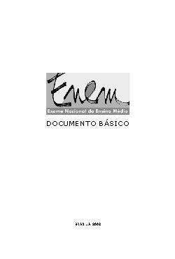 Exame Nacional do Ensino Médio - ENEM: documento básico  2 ...