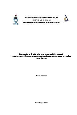 Paped - Educação a distância via Internet/Intranet: Estudo ...