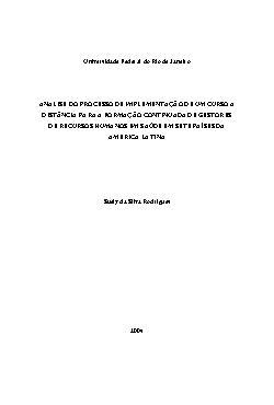 Paped - Análise do Processo de Implementação de um Curso a ...