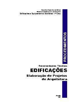Elaboração de Projetos de Arquitetura. Recomendações Técnica[..]