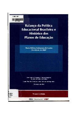 Balanço da política educacional brasileira e hitórico dos  ...