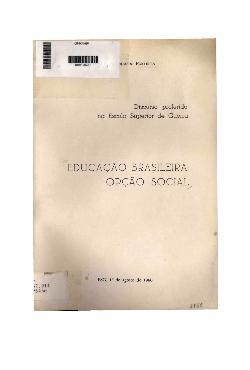 Educação brasileira: opção social