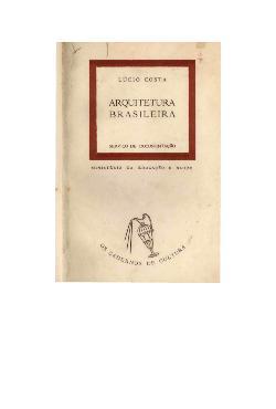 Arquitetura brasileira (coleção os cadernos de cultura, nº ...