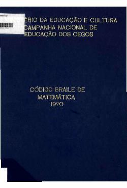 Código braile de matemática - 1970
