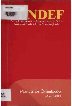 Manual de orientação - 2003