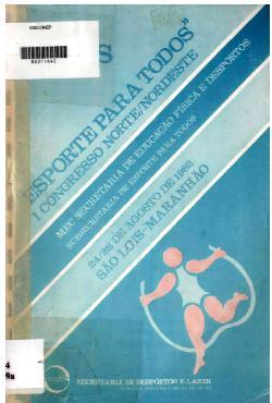 Anais esporte para todos - 1º Congresso Norte/Nordeste