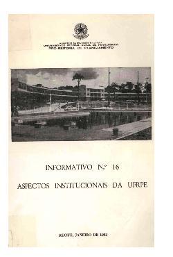 Informativo nº 6 - aspectos institucionais da UFRPE