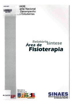 Relatório síntese da área de fisioterapia