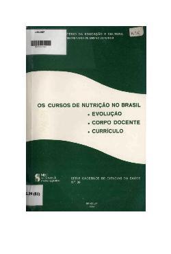 0 ensino de nutrição no Brasil: evolução, corpo docente e  ...