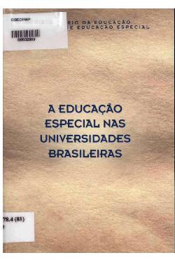 A educação especial nas universidades brasileiras