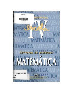 Conversa de professor - matemática